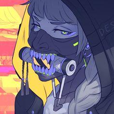 Koyori n – Cyberpunk Gallery Cyberpunk Anime, Arte Cyberpunk, Cyberpunk Character, Aesthetic Art, Aesthetic Anime, Art Goth, Gothic Art, Warrior Angel, Cyberpunk Aesthetic