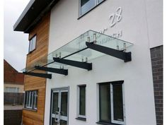 steel and glass awning - Google Search
