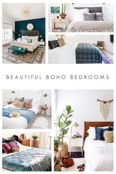 10 Beautiful Bedrooms With Coffered Ceilings: 10 Beautiful Boho Bedrooms Modern Boho Master Bedroom, Black Master Bedroom, Neutral Bedroom Decor, Bohemian Bedroom Decor, Bedroom Red, Small Room Bedroom, Master Bedroom Design, Contemporary Bedroom, Beautiful Bedrooms