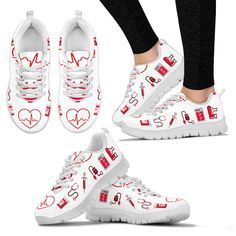 This Proud Nurse Sneakers is a must have! Made from premium quality material and exclusively made by Node Lux. Get yours today while on stock. These sneakers ar Golf Shoes, Converse Shoes, Shoes Sneakers, Women's Shoes, Disney Princess Pictures, Walking In High Heels, Nursing Shoes, Lpn Nursing, Nursing Accessories
