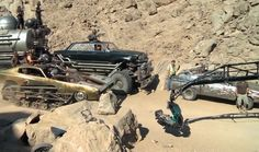 Stunt Driving rigs used in the films Mad Max Fury Road. Behind-the-scenes.