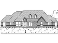 Eplans Tudor House Plan - Four Bedroom Tudor - 3204 Square Feet and 4 Bedrooms from Eplans - House Plan Code HWEPL63551