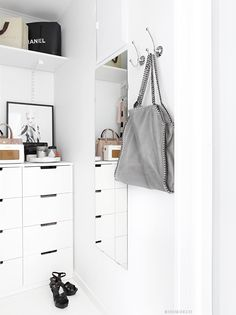 Ikea 'Nordli' chest of drawers in walk-in-closet