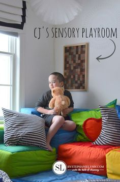 Sensory Playroom - Textured Tactile Wall Art Panel - #autism #sensoryprocessing