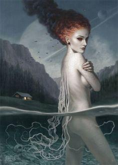 ☆ Night Swimming :¦: Artist Tom Bagshaw ☆