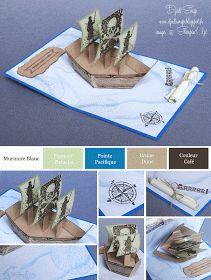 Djudi'Scrap: Carte d'Anniversaire Pop Up Pirates pour enfants...