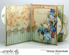What gorgeous pages inside Ginny's Baby 2 Bride boy mini album #graphic45