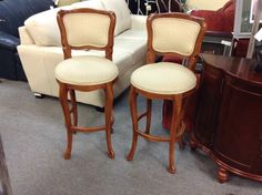 Bar Stools - We have a pair of these elegant bar stools.  Item 844-7. Price $150.00 each    - http://takeitorleaveit.co/2015/06/30/bar-stools-3/