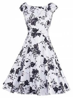 Prezzi e Sconti: #Floral vintage fit and flare dress  ad Euro 21.31 in #Women dresses print dresses #Moda