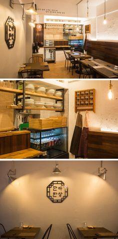 [No.46 단아한상] 작은 식당 인테리어 9평, 모던 한식당