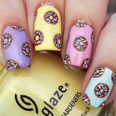 18 Cute Nail Designs that You Will Like for Sure ★ Cute and Awesome Nail Designs for Food Lovers Picture 3 ★ See more: http://glaminati.com/cute-nail-designs/ #cutenails #cutenailsdesigns