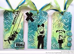 Viva Las VegaStamps!: Banksy trio of tags