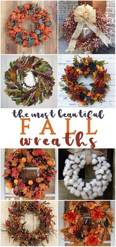 I LOVE these fall wreath ideas for front doors - you can buy these beautiful fall wreaths for your home with my affiliate link! These are so gorgeous, I really want them all!