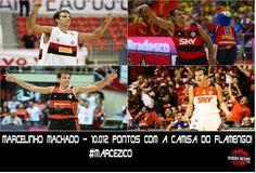 A idolatria de uma nação não é conquistada à toa. Marcelinho Machado fez história novamente com o camisa do Flamengo - 10.012 pontos.