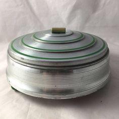 Vintage ART DECO Aluminium &Bakelite Serving Dish by a2vVintage