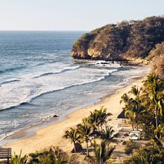 With a blaze and a glitter, the day begins in Sayulita in Mexico. A clued-up surf crew are hightailing it to the country's Pacific coast for cool bars and a colour-popping beach scene. Vacation Trips, Day Trips, Vacations, Offroad, Winter Sun Destinations, Lets Run Away Together, Places To Travel, Places To Go, San Diego