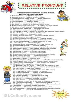 Relative Pronouns Worksheets                              …