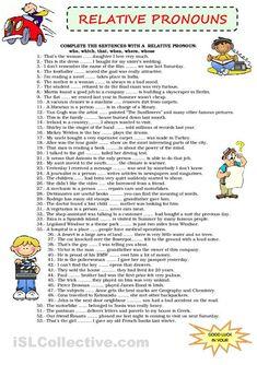 Relative Pronouns Worksheets                              …