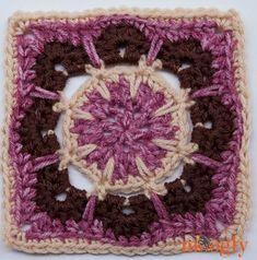 "Ravelry: Mini Magic Mandala Square 6"" Block pattern by Tamara Kelly"