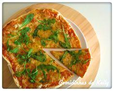 Receita Pizza de rúcula por Raquel Mota - Categoria da receita Pratos principais vegetariano