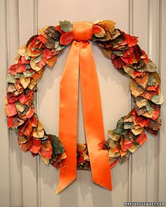 Create this beautiful fall wreath to give your front door an extra special touch.