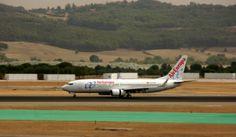 B737 de @Air Europa Con reversas activadas