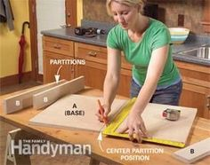 Construct roll-out trays for extra storage space in the sink base cabinet.