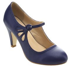 Want This: Chase Chloe Kimmy 21 Womens Round Toe Pierced Mid Heel Mary Jane Style Dress Pumps Blue Pumps, Blue Shoes, Women's Pumps, Pump Shoes, Platform Shoes, Stiletto Pumps, Black Heels, High Heels, Shoes Heels