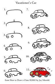 joy sikorski car drawing template