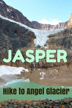 JASPER, Alberta | One of the top things to do in Jasper National Park is to hike to Cavell Meadow. You pass beautiful Angel Glacier, hanging on Mount Edith Cavell. Do you see the wings spreading out?  http://www.sandinmysuitcase.com/jasper-national-park-holiday/