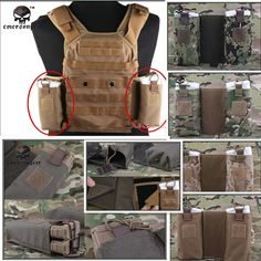 EMERSON MOLLE JPC MBITR Radio Pouch Set Utility Military Double Sub Bag Pouches for JPC Vest Hunting Pistol Stock Ammo Holder