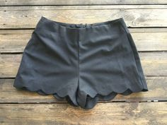 Black Scallop Shorts