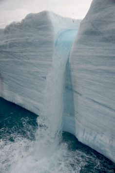 franciscan-pantheist:  Iceberg waterfall.  (via beautiful-portals)