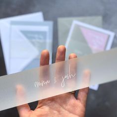 White ink on vellum belly bands