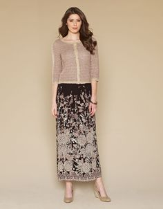 Pushka Paisley Border Print Maxi Skirt from Black Monsoon