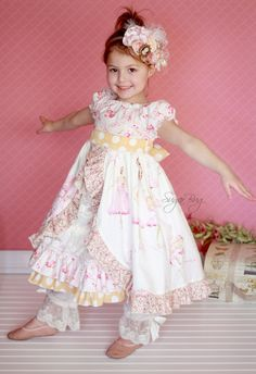 Girls fancy peasant dress with sash.  LOVE!  Peasant dresses for easter this year!