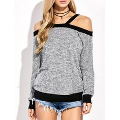 Cold Shoulder Color Block T-Shirt Stylish Outfits, Cute Outfits, Fashion Outfits, Womens Fashion, Cheap Fashion, Moda Emo, Casual Tops For Women, Discount Designer Clothes, Sammy Dress