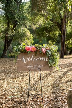 Wedding Welcome Sign by PaperandPineCo https://www.etsy.com/shop/PaperandPineCo www.paperandpineco.com Paper and Pine Co    Anthropologie-inspired Wedding at Temecula Creek Inn by Michelle Garibay Events
