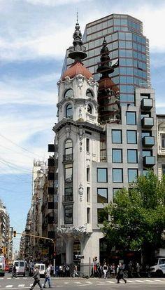 Los centros en Buenos Aires, Argentina, son muy bonitos. No como en Estados Unidos.