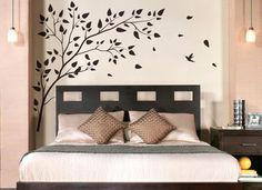 Vinyl Art Tree Branch with birds Wall Sticker Decals Home Decor Art by DecalIsland - Tree Branch with birds