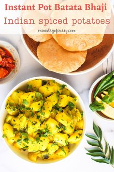 Indian Spiced Potatoes are tender spiced potatoes, always makes an appearance on our special occasion thaali, large dish, next to the fluffy whole wheat puri and sweet Amrakhand. These potatoes, which are sauteed with a hint of turmeric and lightly spiced with ginger and green chilies, can be enjoyed by the whole family. #ministryofcurry Healthy Curry Recipe, Veggie Recipes Healthy, Healthy Indian Recipes, Curry Recipes, Quick Soup Recipes, Easy Chicken Recipes, Delicious Recipes, Dinner Recipes, Instant Pot Curry Recipe