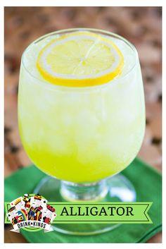 Alligator - vodka, triple sec, melon liqueur, orange juice, lemon juice and lemon-lime soda! | The Drink Kings |