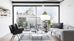 Located in the heart of Tel Aviv, 'RED' is a minimalist residence designed by Interior Designer Yael Perry.The designer used red & frosted glass to create. Living Room Carpet, Living Room Decor, Living Rooms, Red Interior Design, Concrete Staircase, Minimalist Home Interior, Red Interiors, Deco Furniture, Luxury Apartments