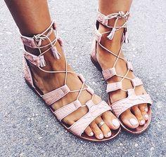 Lace-up sandals tendencia verano
