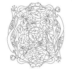 Mandalas Para Pintar: Mandala floral