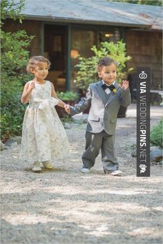 Sweet! - cute ring bearer and flower girl | CHECK OUT MORE GREAT FLOWER GIRL AND RING BEARER PHOTOS AND IDEAS AT WEDDINGPINS.NET | #weddings #wedding #flowergirl #flowergirls #rings #weddingring #ringbearer #ringbearers #weddingphotographer #bachelorparty #events #forweddings #fairytalewedding #fairytaleweddings #romance