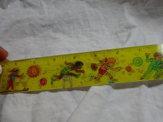 Vtg 80s Lenticular Moving Action Sports School Ruler Ski Hurdles Biking Skate | eBay