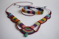 Excited to share the latest addition to my #etsy shop: Macrame Cavandoli Jewelry set/ Necklace/ Bracelet/ Ethnic Jewelry/ Turquoise/ Colorful jewelry/ Hippie jewelry set/ Authentic Jewelry/ Gift http://etsy.me/2zmHF5K #jewelry #rainbow #stone #yes #girls #turquoise