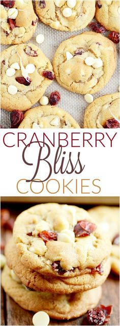 cranberry bliss cookies #cranberrycookiebarrecipes