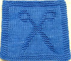 Knitting Cloth Pattern  SCISSORS  PDF by ezcareknits on Etsy, $2.85